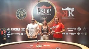 Imagen de los tres ganadores del evento Freezout del KSOP.